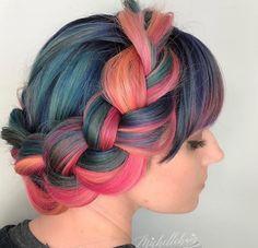 Fashion colour Braids #braids #braidstyles #braidstylist #stylist #hairstylist #hairstyle #hairstylist #braids #fashion #colouredbraids #colouredhair #hairinspo #mermaidhair #unicorn #color #haircolor #love2Braid #vlechten #vlechtkapsels #bruidskapsels