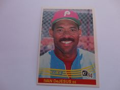 Ivan DeJesus Donruss 1984 Baseball Card.