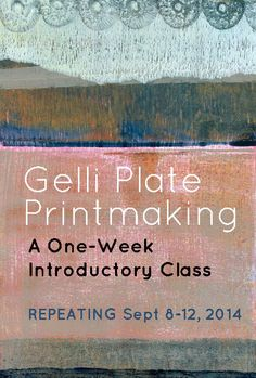 Gellie Plate Printmaking Online Class | #CarlaSonheim