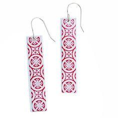 M O R O C C O rectangle earrings // #MoeMoeDesign #TheCurioCollective #Moroccan #morocco  #jewellery #sterlingsilverjewellery