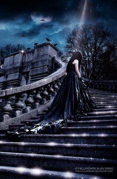 She's lost in the darkness by FallanDark.deviantart.com on @deviantART