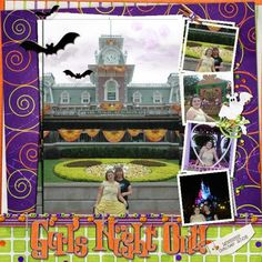 Disney Halloween {pinned by www.thedisneykids.com} #DisneyScrapbooking #DisneyScrapbook