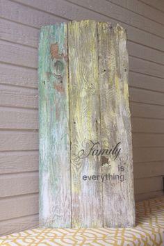 VINTAGE WOOD SIGN  Old Wood Sign  Primitive by baybeedahlboutique, $44.99