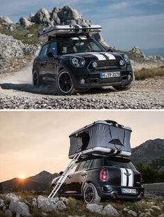 Mini Countryman Rooftop Tent is a two person tent for your car that's easy to set up