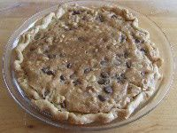 Chocolate Chip Pie: Eating this a piece of this Chocolate Chip Pie is almost like eating a big cookie.