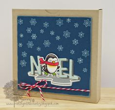Hi there :0)  I've been busy making a mini set of Christmas cards using Lawn Fawn stamps and dies for my DT posts  over at Make the Day ...