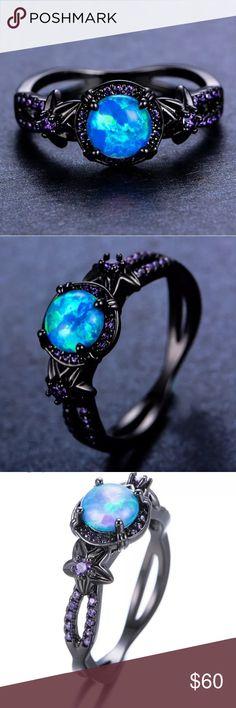 **NEW**FABULOUS  BLUE FIRE OPAL DROP LEAF EARRINGS  SILVER 925   20 X 10  mm