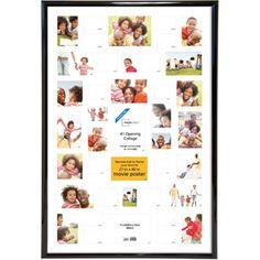 Mainstays 27x40 Trendsetter Poster Frame, Black, 41-Opening Collage