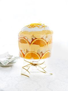 One Sentence Recipes - Quick and Easy Recipes - Good Housekeeping - Citrus trifle sub with angel food cake