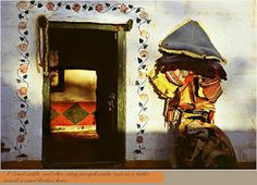 A little away from the city enclosed within the honey coloured walls of the Jaiselmer fort, Rajasthan, . Mud Hut, Concrete Structure, Mexican Artists, Honey Colour, Village Houses, Countries Of The World, Wall Colors, Designs To Draw, Habitats