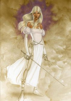 Conina. Hairdresser by vocation, thief and barbarian warrior by genetics. Cohen the Barbarian's daughter.