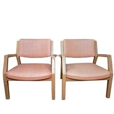 Mid Century Modern Captains Chair Pair