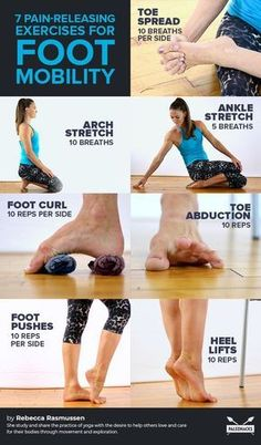 7 Pain-Releasing Exercises for Your Achy Feet - *Yoga & Workout* - Desserts Health Benefits, Health Tips, Health And Wellness, Health Fitness, Planet Fitness, Yoga Benefits, Health Articles, Foot Exercises, Ankle Stretches