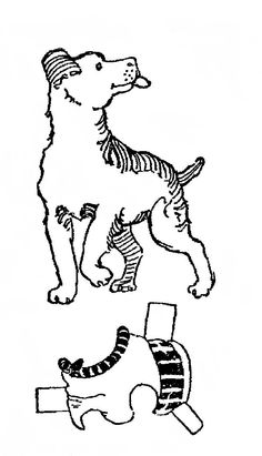 Betty Dog paper dolls | September 09, 1923. The BETTY Cut-Out series included many animal cut ...