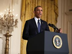 President Obama making the statement on Wednesday about acting IRS Commissioner Steve Millers resignation.
