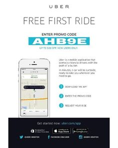 """""""YOU GOT A FREE RIDE Welcome to Uber, the easiest way to get around at the tap of a button. Sign up now to claim your free gift from AHB9E($15 off first ride)*. *Free ride value amounts vary by city. …………………………………………………………... #Napa #NewportBeach #Oakland #Oceanside #PalmSprings #PalmDesert #PaloAlto #MenloPark #Pasadena #Pleasanton #Poway #RanchoCucamonga #Redlands #Richmond #Riverside #Roseville #Sacramento #Salinas #SanBernardino #SanDiego #SanFrancisco #SanJose #Ubercode #Uber…"""