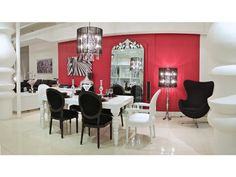 White Dining Philipe Table - modern contemporary baroque designer white lacquer dining room tables modani.com