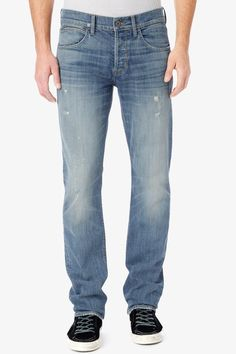 """Our Byron Straight Leg in Arroyo is just the right fit – a modern, five pocket style that ends in a true straight leg; these jeans have comfort and style. Medium weight, comfort stretch denim Fabrication: 98% cotton, 2% elastan Front rise: 10"""", Five pocket style, Button fly Inseam: 34"""" Leg Opening: 16"""" Model wearing... Price : 245.00$"""
