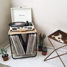 "I would include the vinyl in my room. This is an example of ""hobby"" in my bedroom design."