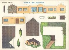 Recortables De Casas Y Edificios  Casa Campo Dibujos Para