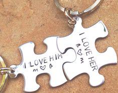 couple keychain gifts for him and her anniversary by natashaaloha, $24.00