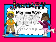 January First Grade Morning Work from Emily Ames on TeachersNotebook.com (21 pages)  - January First Grade Morning Work