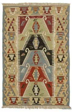 Multicolor New Handwoven Turkish Kilim Rug x cm x 179 cm) African Crafts, Custom Rugs, Turkish Kilim Rugs, Hand Weaving, Turkey, Kilims, Fringes, Afghanistan, Create