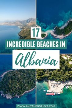 Want to know the best Albania beach destinations? Here you will find the best the best Albanian beaches including Ksamil, Saranda (Sarande), Vlora (Vlore), Dhermi, gjipe beach, Himare, drymades, Jale and more. Albania travel destinations are some of the best Balkan travel destinations.  If you're looking for incredible Europe bucket list destinations then choose Albania! Top travel tip: Some of the best beaches are located within the Albanian Riviera Albania Beach, Albania Travel, Visit Albania, Europe Travel Outfits, Europe Travel Guide, Travel Tips, Travel Destinations, Beautiful Beach Pictures, Secluded Beach