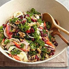 This fresh kale salad is perfect for the holidays and caters to all guests, including vegans and vegetarians.