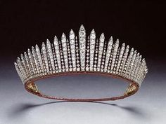 The King George Tiara was commissioned by George III for his wife, Queen Charlotte. It was eventually bequeathed to Victoria.