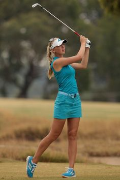 Jessica Korda of the United States plays a shot on the 11th hole during day one of the ISPS Handa Women's Australian Open at The Victoria Golf Club on February 13, 2014 in Melbourne, Australia.