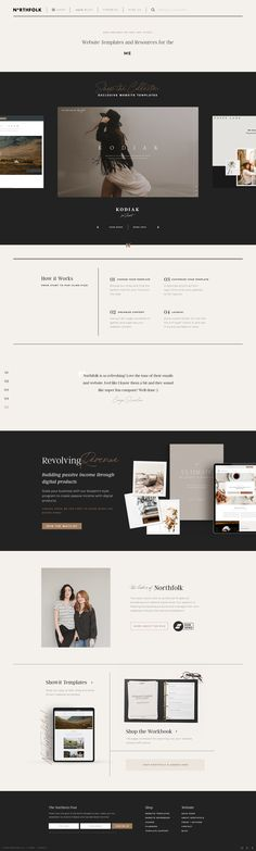Northfolk - Website templates, courses and tools for small businesses Website Design Layout, Website Designs, Website Ideas, Website Design Inspiration, Layout Design, Ui Website, Header Design, Typography Layout, Free Sign