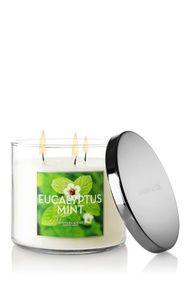 Eucalyptus Mint 3-Wick Candle - Decorate any room in your home with a bright, refreshing blend of mint, citrus and ginger with clear notes of fresh eucalyptus and jasmine. ♥
