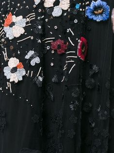 Valentino robe longue à broderies de fleurs