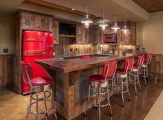 Angolo bar realizzato in stile rustico n.12