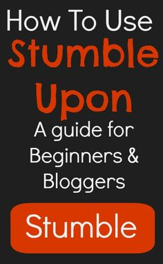 A quick over-view of StumbleUpon and how to use it as a blogger. #socialmedia