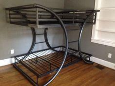 Bunk beds 2/10. Twin Full Bunk Bed, Adult Bunk Beds, Loft Bunk Beds, Metal Bunk Beds, Big Beds, Metal Patio Furniture, Diy Pallet Furniture, Steel Furniture, Furniture Design