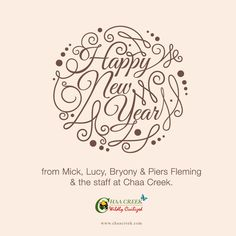 Happy New Year from Belize's Chaa Creek!