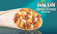 Taco Bell Restaurant Copycat Recipes: Bell Bacon Cheesy Potato Burrito