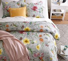 Hummingbird Reversible Duvet Cover & Sham #potterybarn