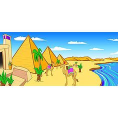 The Pyramid Background will create a fun Egyptian backdrop for your vacation bible school program, school play or Egyptian themed party. Choose the size and material of this great backdrop.