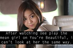 #KdramaConfession Uee After School, You're Beautiful, Korean Celebrities, Mean Girls, Korean Drama, Confessions, Madness, Kdrama, Asian