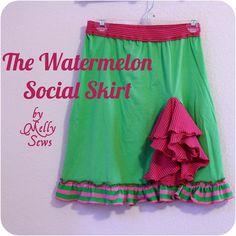 Watermelon Social Skirt - Melly Sews
