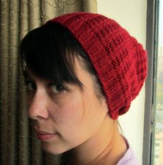 Slouchy Hat Knitting Patterns - In the Loop Knitting Beanie Knitting Patterns Free, Knitting Yarn, Free Knitting, Baby Knitting, Knit Beanie, Slouchy Hat, Knit Crochet, Crochet Hats, Seed Stitch