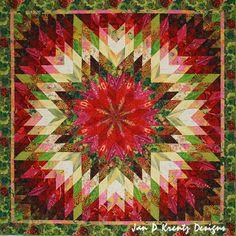 Garden Sunburst Quilt by Jan Krentz  http://onlinequiltingclassesmembership.ning.com/