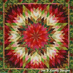 Garden Sunburst Quilt by Jan Krentz