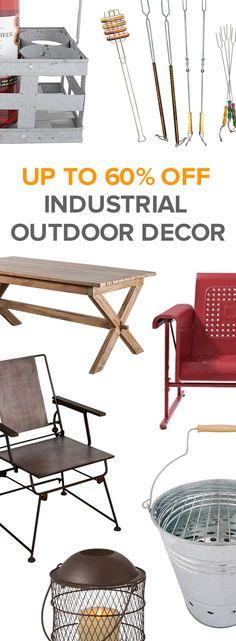 Industrial Outdoor Décor   Shop Now at dotandbo.com