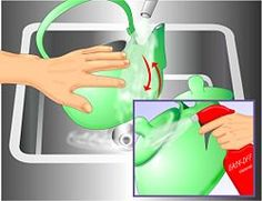 Clean Stove Grease off Your Tea Kettle - wikiHow - Dampen the exterior or your kettle with water, dust with baking soda, and wipe with a sponge soaked in vinegar. Re-dust with baking soda as needed. Once clean, you can maintain the grease-free status by wiping weekly with vinegar on a paper towel.