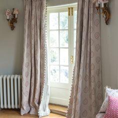 Susie Watson Designs, Linen Fabric - Graphite Malathi
