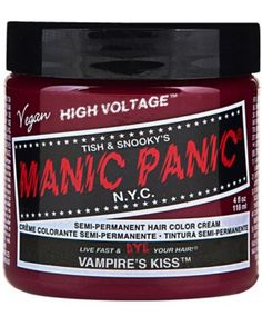 Vampire's Kiss Classic Dye || tragicbeautiful.com || Planning on dying your hair for the summer holidays? This lovely wine red colour will suit your makeup for sure. Try mixing with other Manic Panic shades for a look to suit you!  #TRAGICBEAUTIFUL